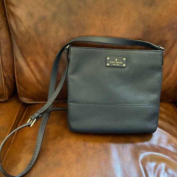 🆕 KATE SPADE ♠️ Bay Street Cora Leather Handbag (Navy Blue)